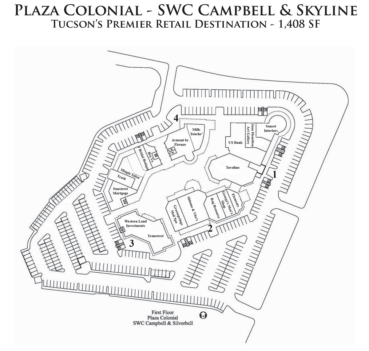 Plaza Colonial Site Map