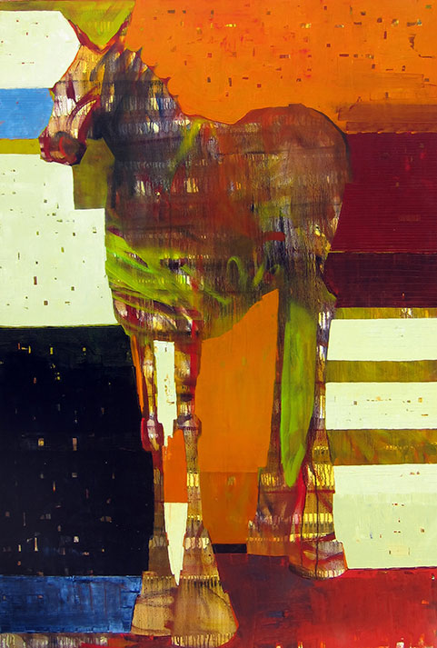 Sherri Belassen | Charmed Cheval | 72″ x 48″ | oil on canvas