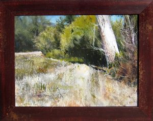 Lane Hall | Creekside III | 15″ x 19″ | oil on panel